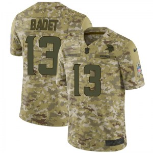 Nike Jeff Badet Minnesota Vikings Men's Limited Camo 2018 Salute to Service Jersey