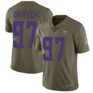 Nike Everson Griffen Minnesota Vikings Men's Limited Olive 2017 Salute to Service Jersey